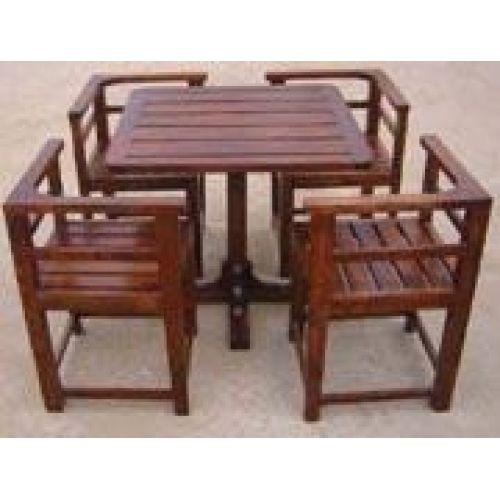 4 Seater Dining Table With Chairs Wooden Dining Table Set