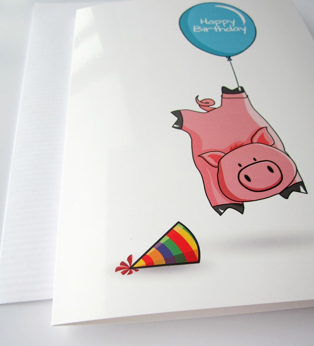 Make kids friends and family smile with this cute silly pig make kids friends and family smile with this cute silly pig birthday card kristyandbryce Gallery
