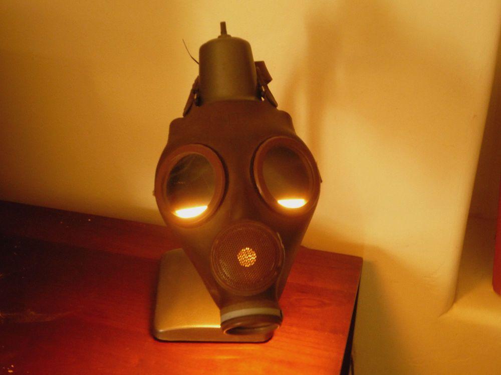 Industrial goose neck gas mask desktable lamp light steampunk industrial goose neck gas mask desktable lamp light steampunk christmas gift aloadofball Gallery