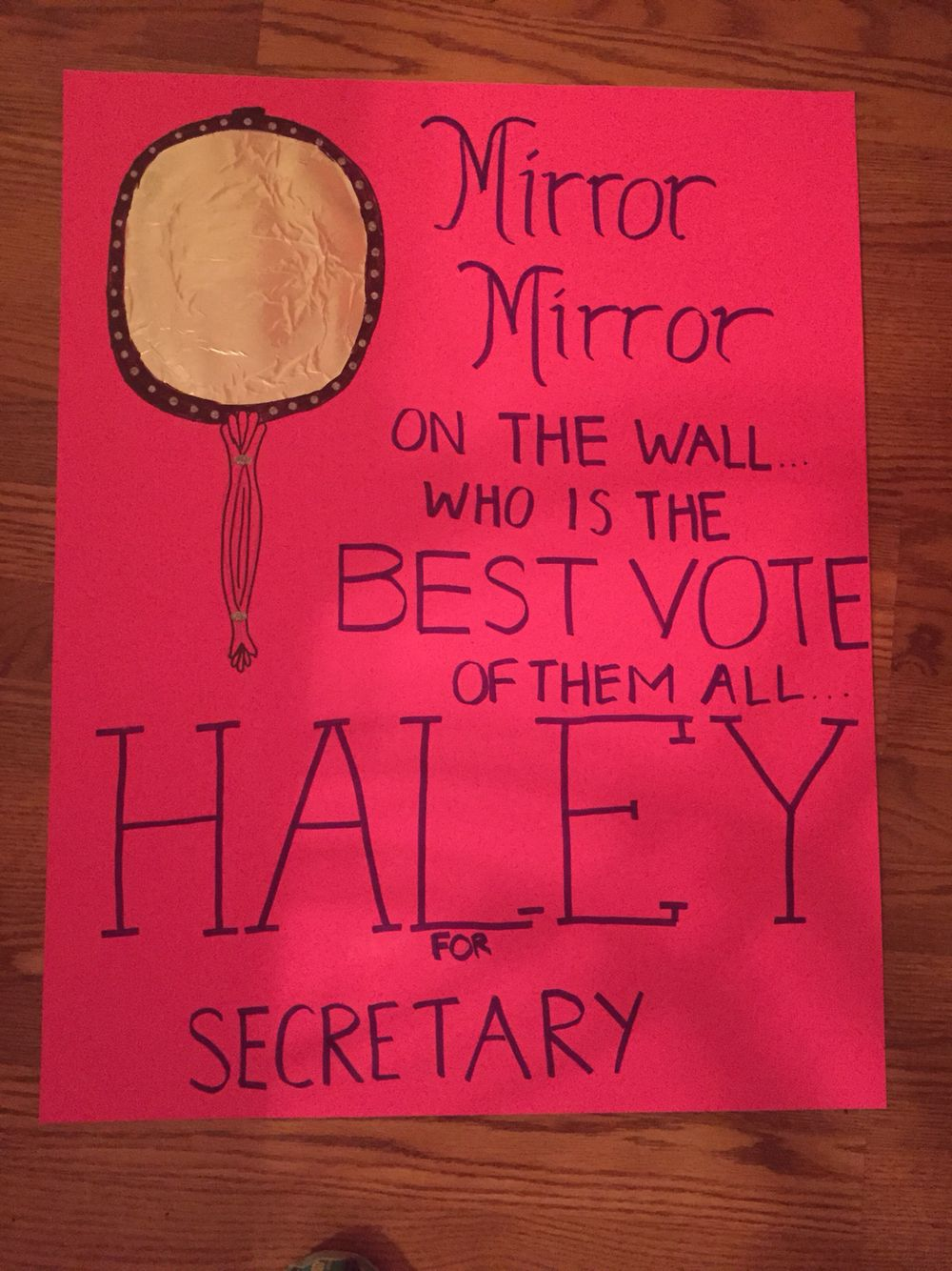 Student Council Election poster ideas. My daughter made this. She ... for Cool Poster Ideas For School Projects  45jwn