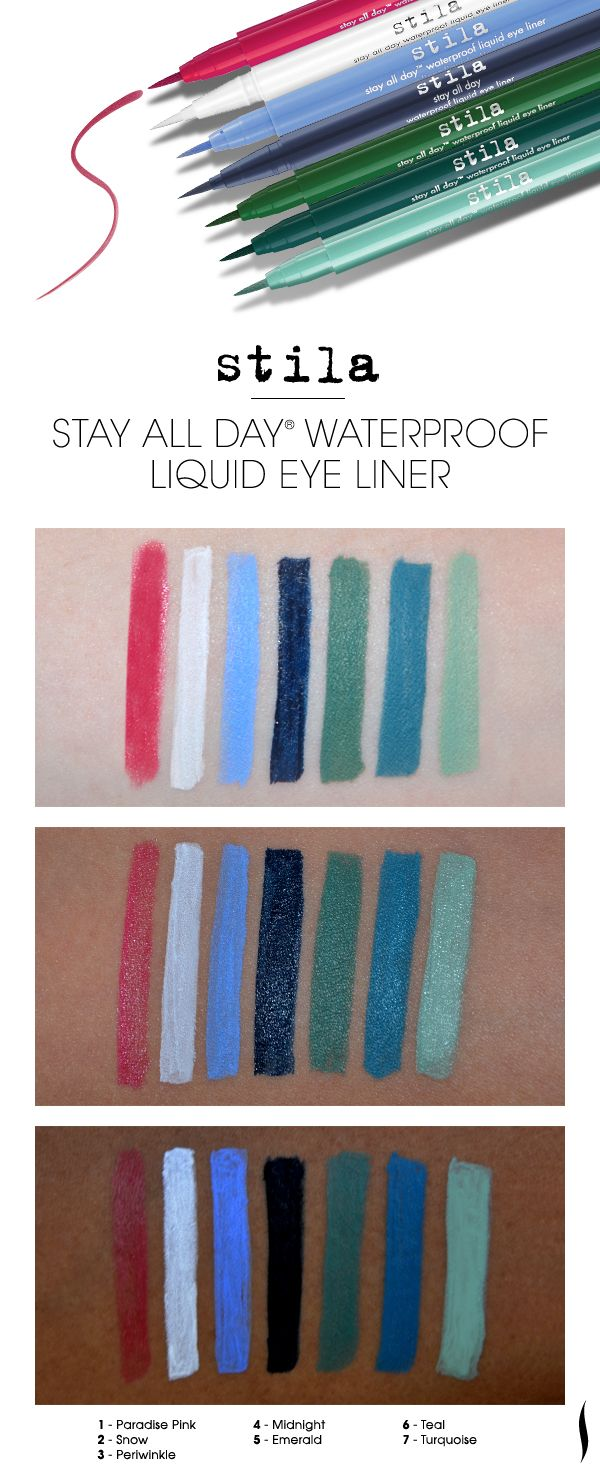 We swatched new shades of Stila's Stay All Day Waterproof Liquid ...