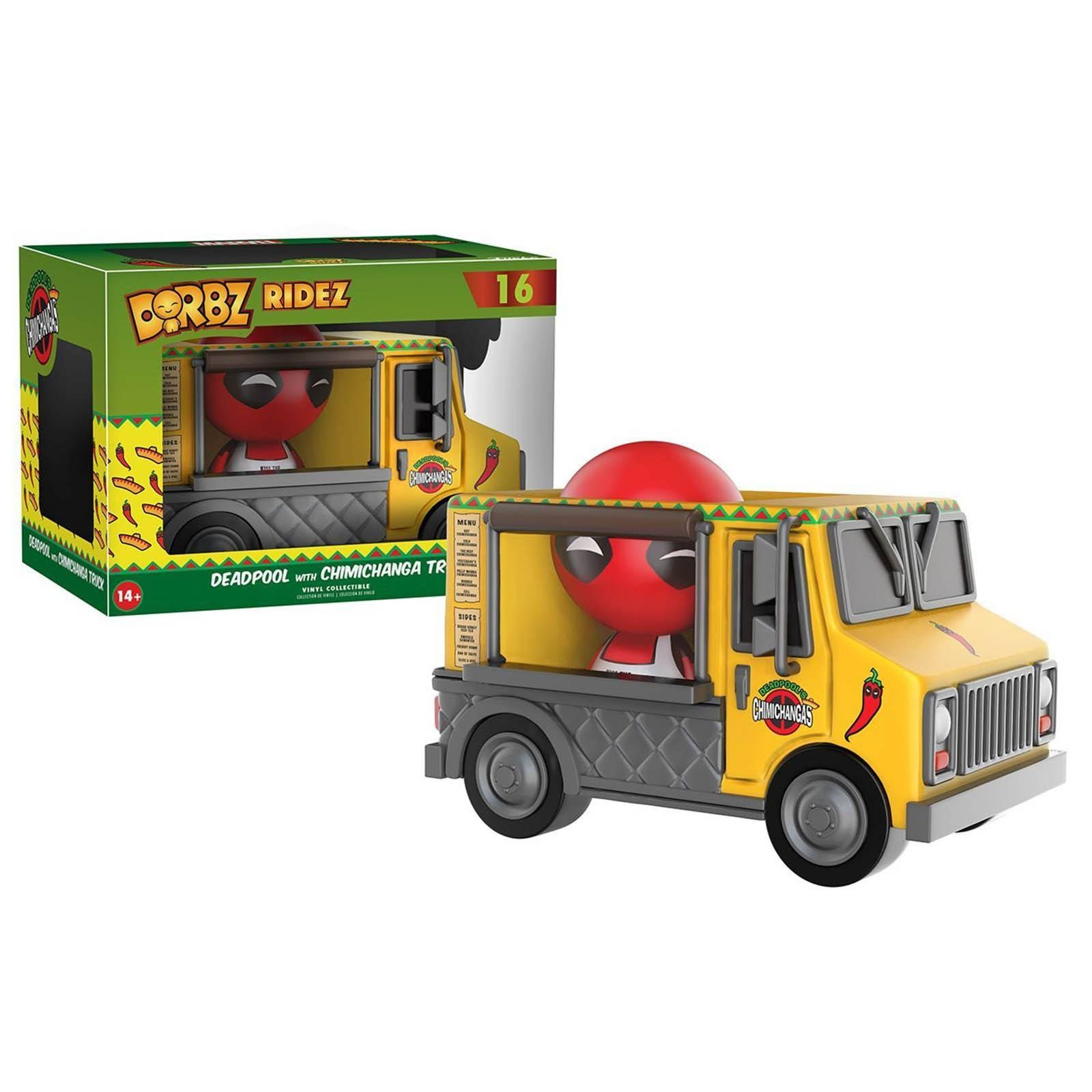 Funko Marvel Dorbz Deadpool With Chimichanga Truck Vinyl Figure - Radar Toys