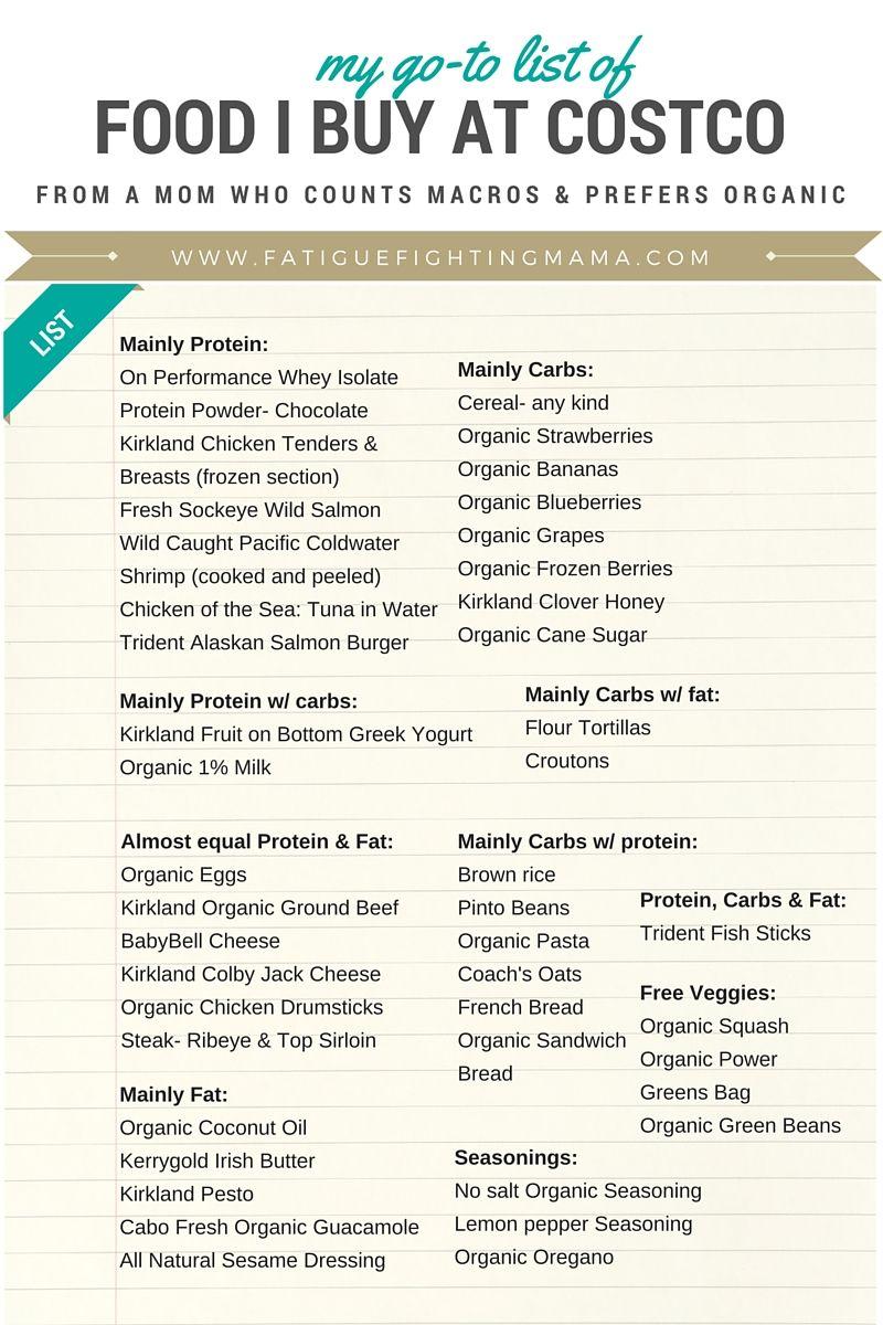Costco Shopping List-2   FFM FOOD STUFF   Pinterest   Costco ...