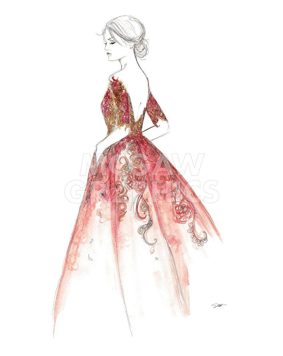 Excelente Bocetos Vestido De Novia Embellecimiento - Colección de ...
