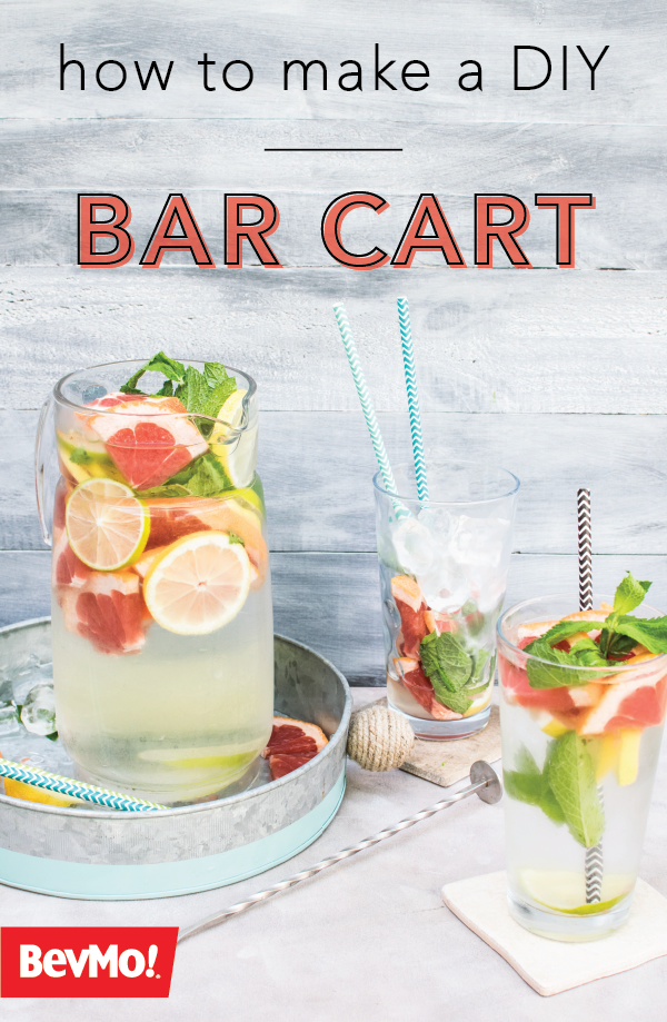 How To Build Your Own Bar Cart Bevmo Healthy Summer Drinks Detox Water Recipes Water Recipes