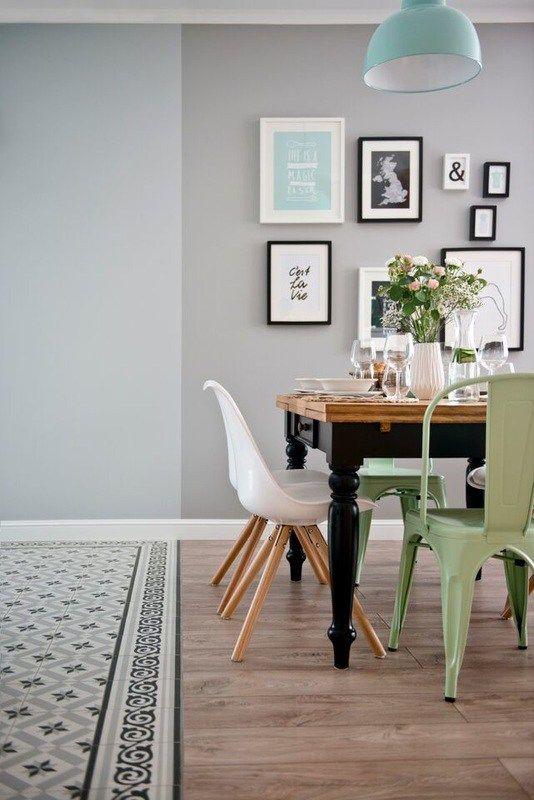 Detalles en mint y negro Lounge ideas, Living styles and Kitchen