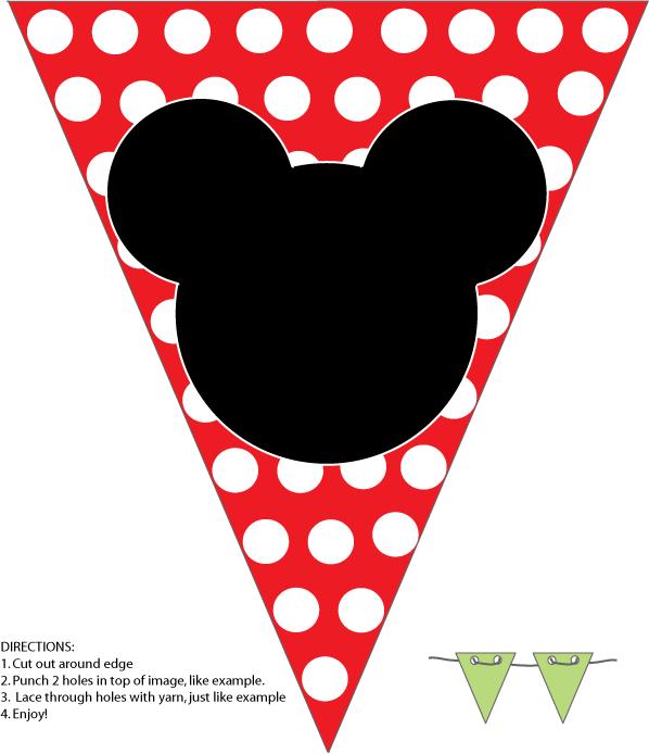 FREE Mickey Mouse Birthday Banner! | Parti fikirleri ...