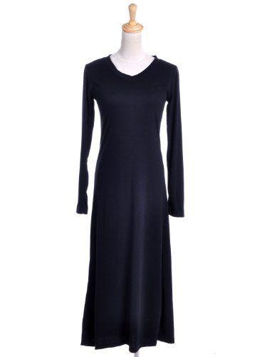 Anna-Kaci S/M Fit Black Elegance in the Basics A-Line Flared Skirt Maxi Dress « Dress Adds Everyday