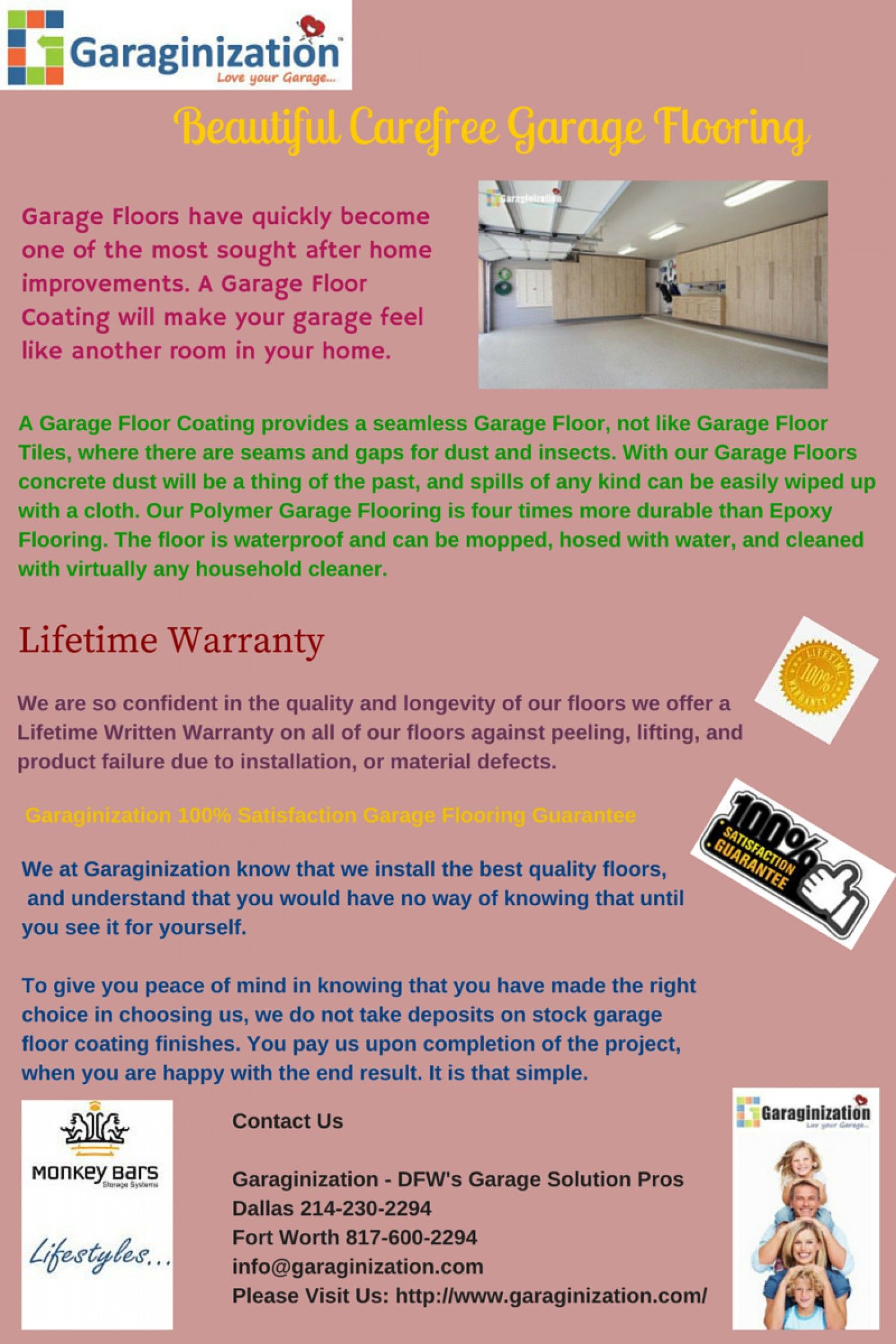 We At Garaginization Know That We Install The Best Quality Floors And Understand That You Would Have No Garage Floor Garage Floor Coatings Garage Floor Tiles