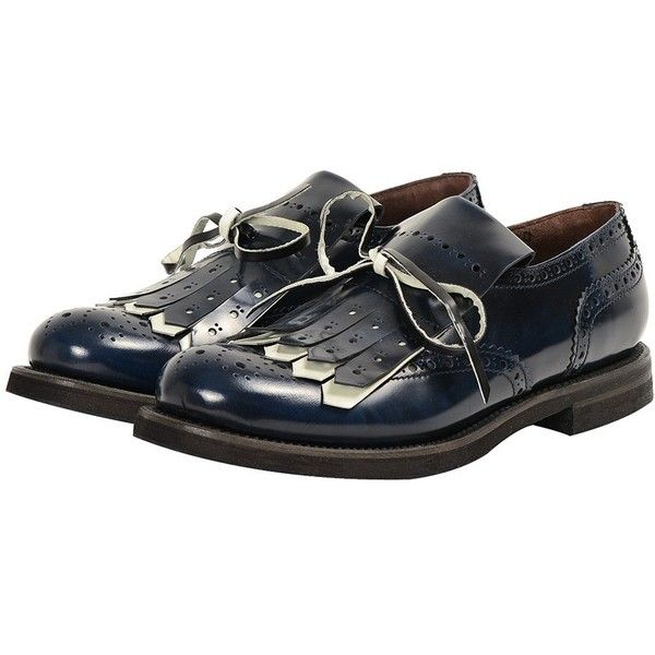 Maria Luisa Craia Blue Grace Oxfords (1.680 BRL) ❤ liked on Polyvore featuring shoes, oxfords, leather shoes, oxford shoes, shiny shoes, shiny leather shoes and leather oxford shoes