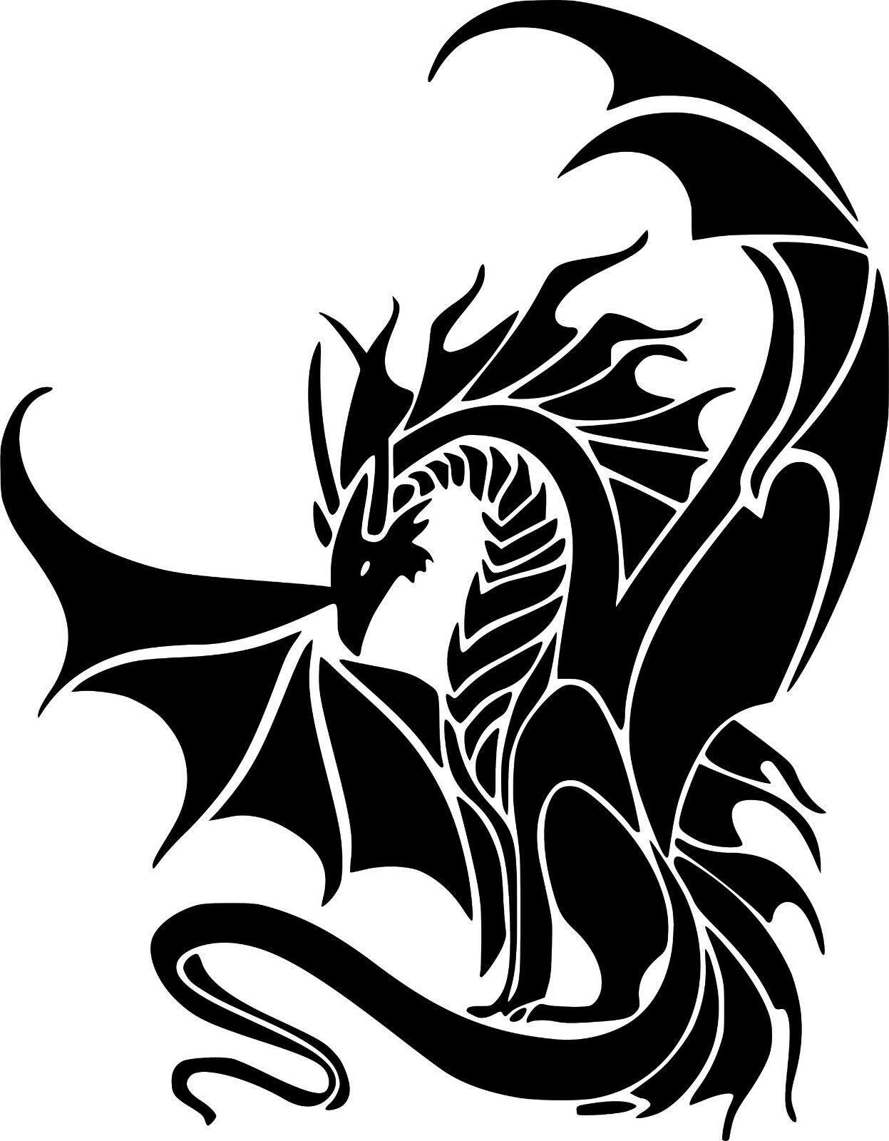 """Dragon Fantasy Creature Myth Art Car Wall Truck Window Vinyl Sticker Decal 6"""""""
