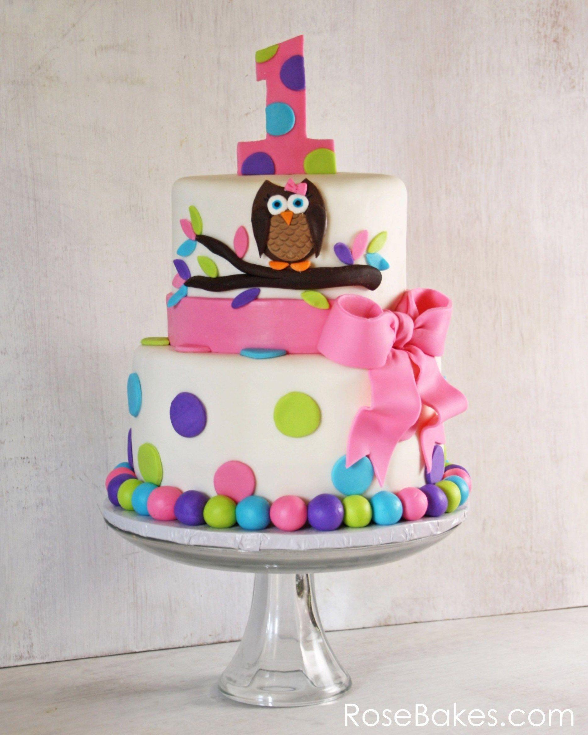Swell 32 Amazing Picture Of Owl Birthday Cake Teagans 1St Birthday Personalised Birthday Cards Akebfashionlily Jamesorg