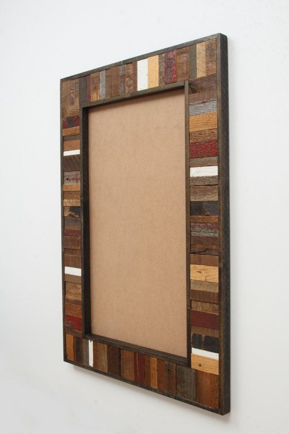 Reclaimed Wood Mirror Frame 36 X24 X1 1 4 Mirror Not Included Reclaimed Wood Mirror Wood Framed Mirror Mirror Frames