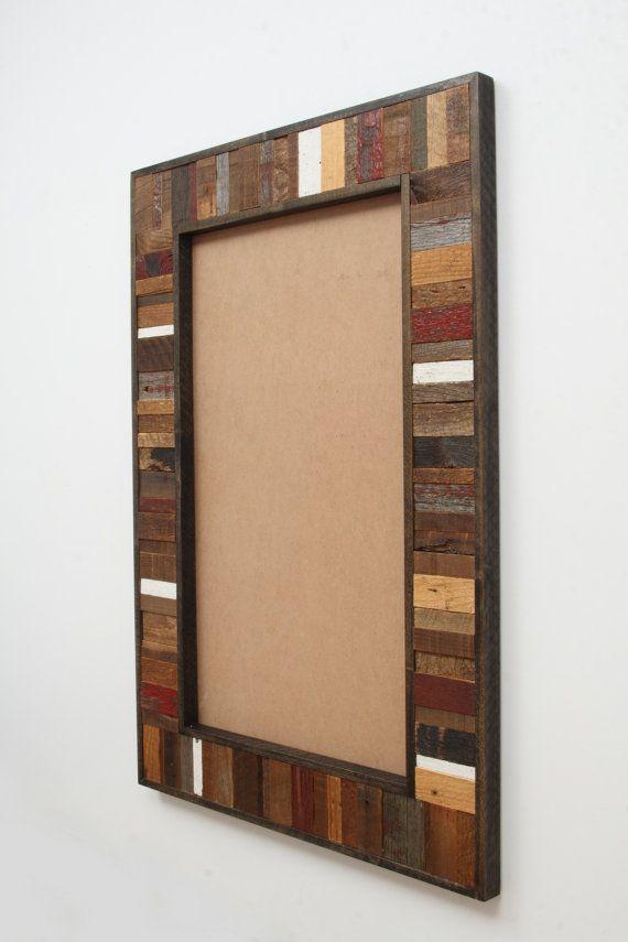 Reclaimed Wood Mirror Frame 36 X24 X1 1 4 Mirror Not Included Reclaimed Wood Mirror Wood Framed Mirror Mirror Frames