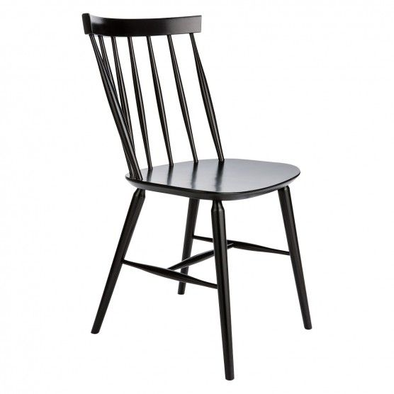 Talia Black Spindle Back Dining Chair In 2019 Dining Black