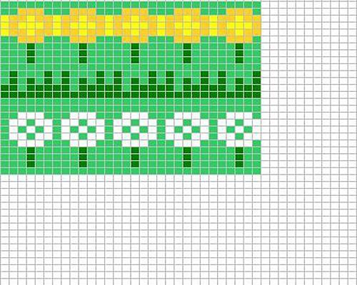 Ravelry: Dandelion chart pattern by Sandra Jäger | Šeme | Pinterest