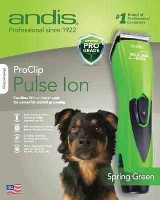 Dog Grooming Cordless Clipper Color Lime Green Proclip Pulse