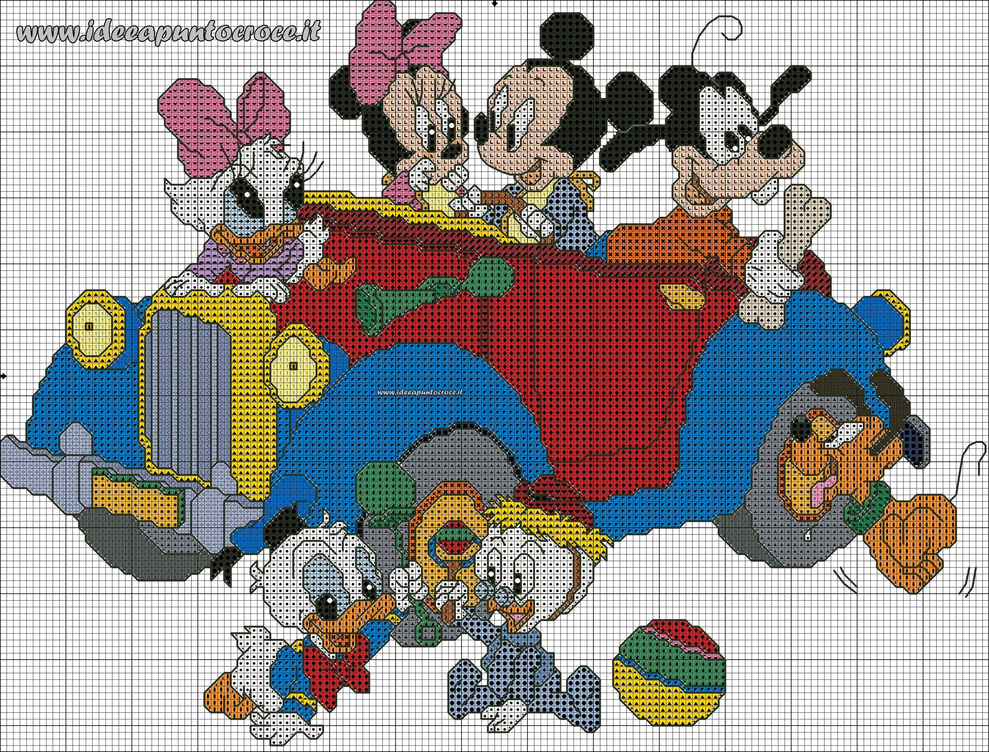 Schema punto croce baby disney disney cross stitch for Punto croce schemi alfabeto