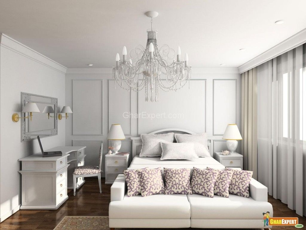 Simply White Bedroom DecorationClassic White Bedroom With