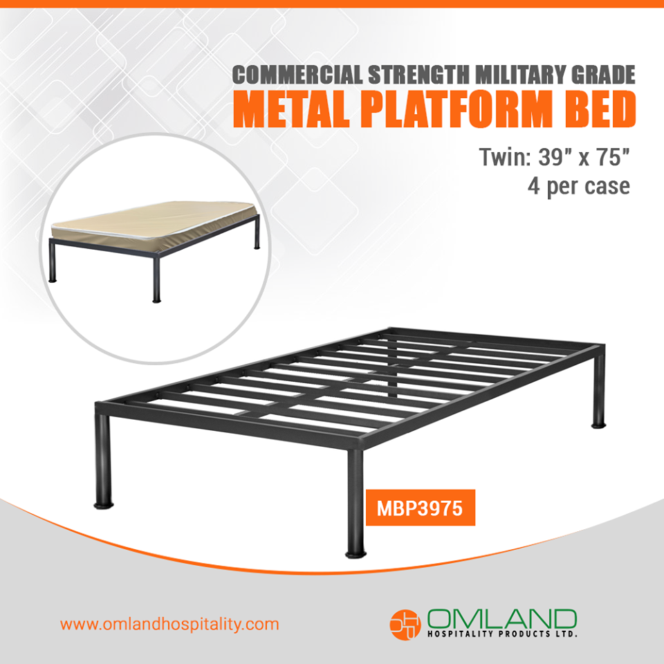 Metal Platform Bed For Shelters And Institutions All Across Canada Metal Platform Bed Platform Bed Metal Beds