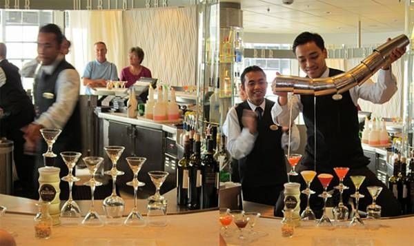 Celebrity Summit's Martini Bar...