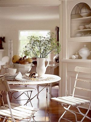 Create A Comfy Cottage Style Living Room White Bistro Set