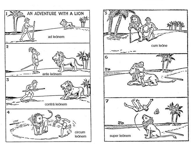 Teaching Latin Prepositions...this is actually hilarious