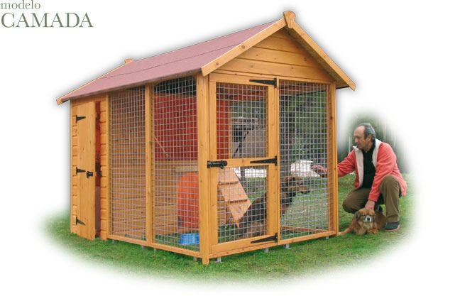 Caseta para perros de madera con camita interior que for Caseta para guardar bicis