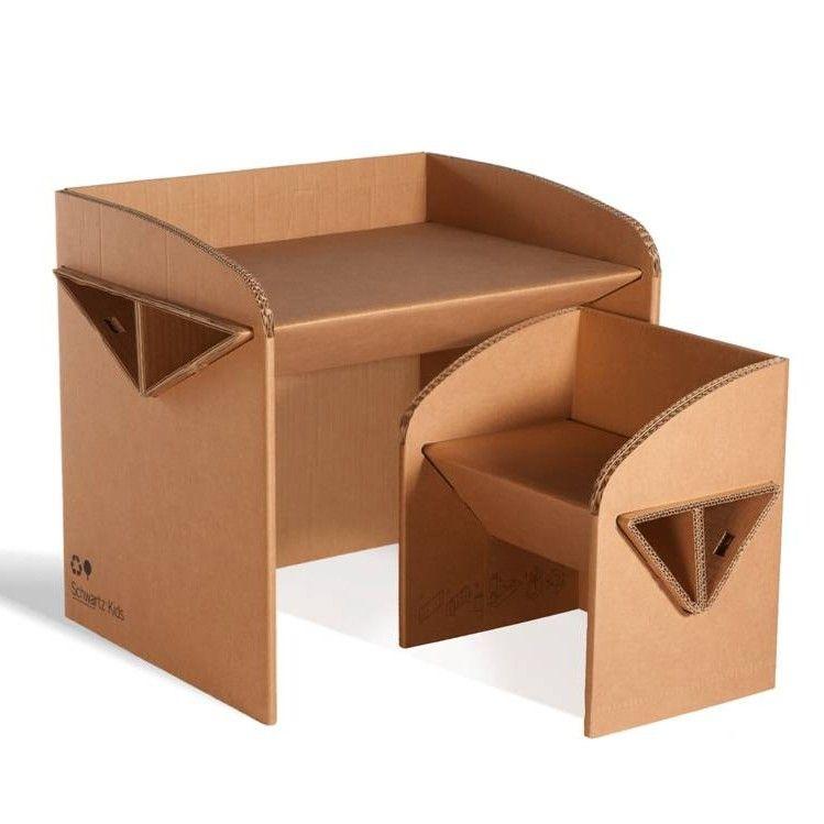 Table Console En Carton Imitation Bois Avec Images Meuble En Carton Mobilier De Salon Mobilier En Carton