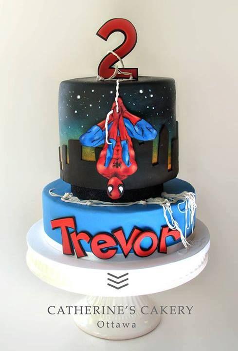 Great Spiderman cake Cakes inspiration kids Pinterest