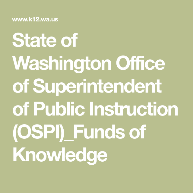 State Of Washington Office Of Superintendent Of Public Instruction