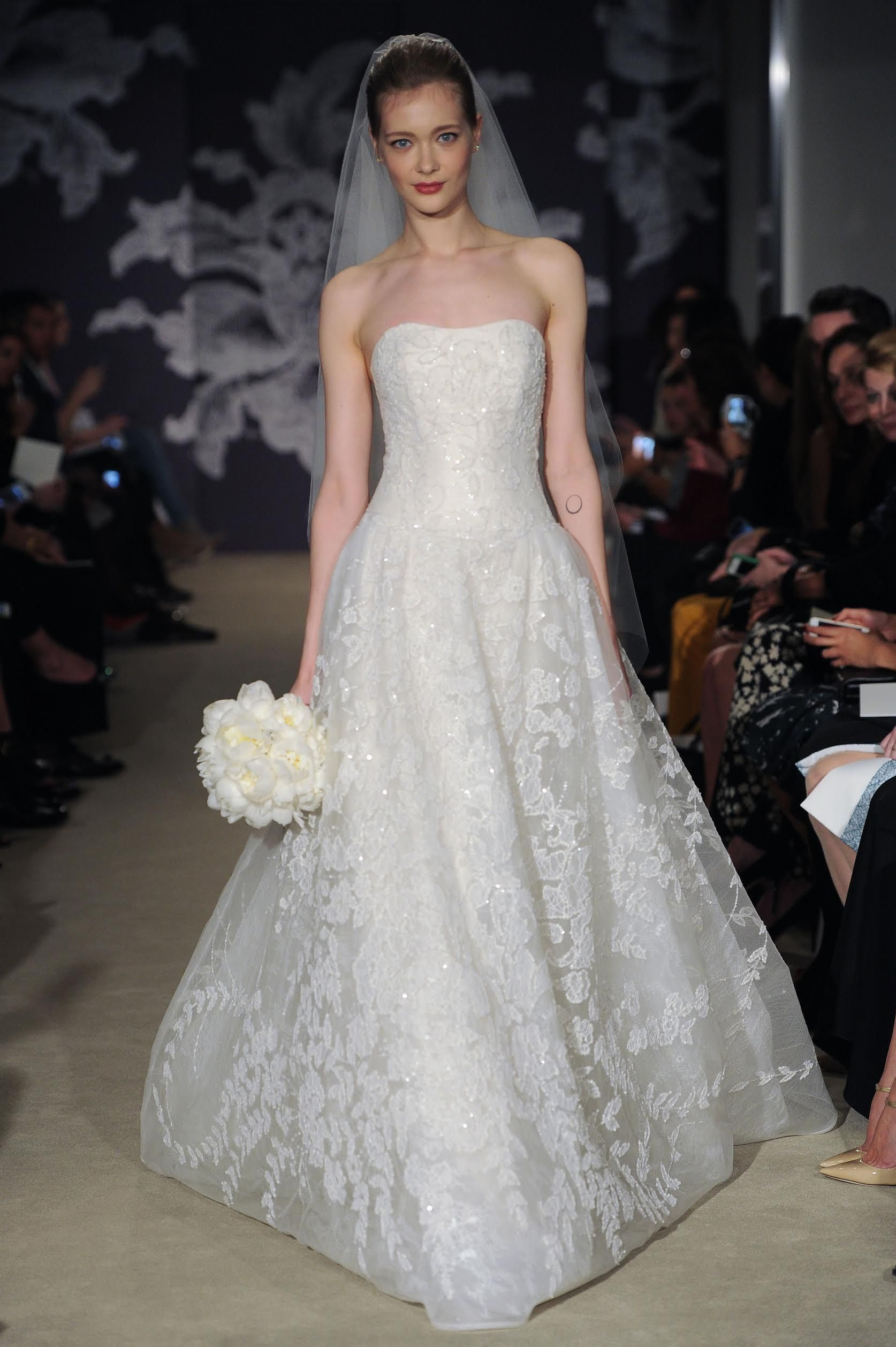 Elite wedding dresses  Carolina Herrera uColetteu gown Photo courtesy of Carolina Herrera
