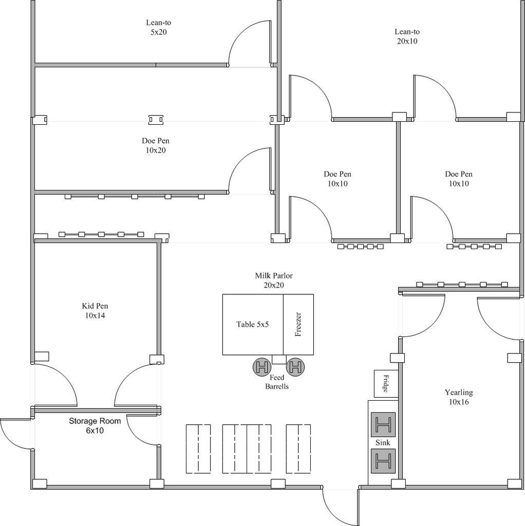 Click This Image To Show The Full Size Version Goat House House Plans Barn Plans