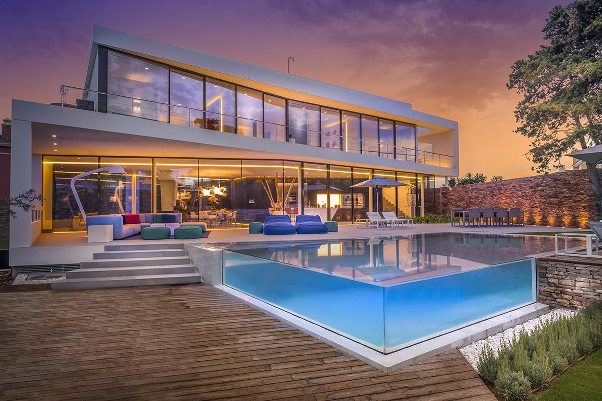 Modern Mediterranean Villa Filled With Creatively Unique Details Pool Houses Holiday Home Dream House Exterior