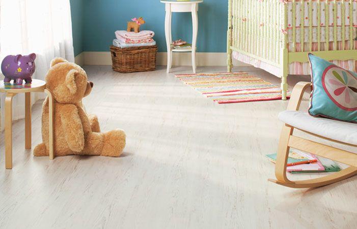 Houten Planken Laminaat, White Brushed Pine Laminate Flooring
