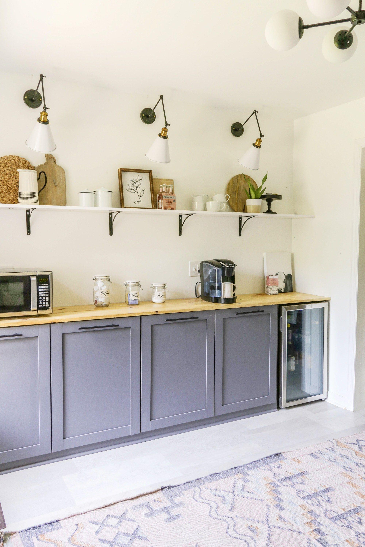 DIY Open Shelving on the Cheap - Farmhouse Kitchen Shelves Tutorial