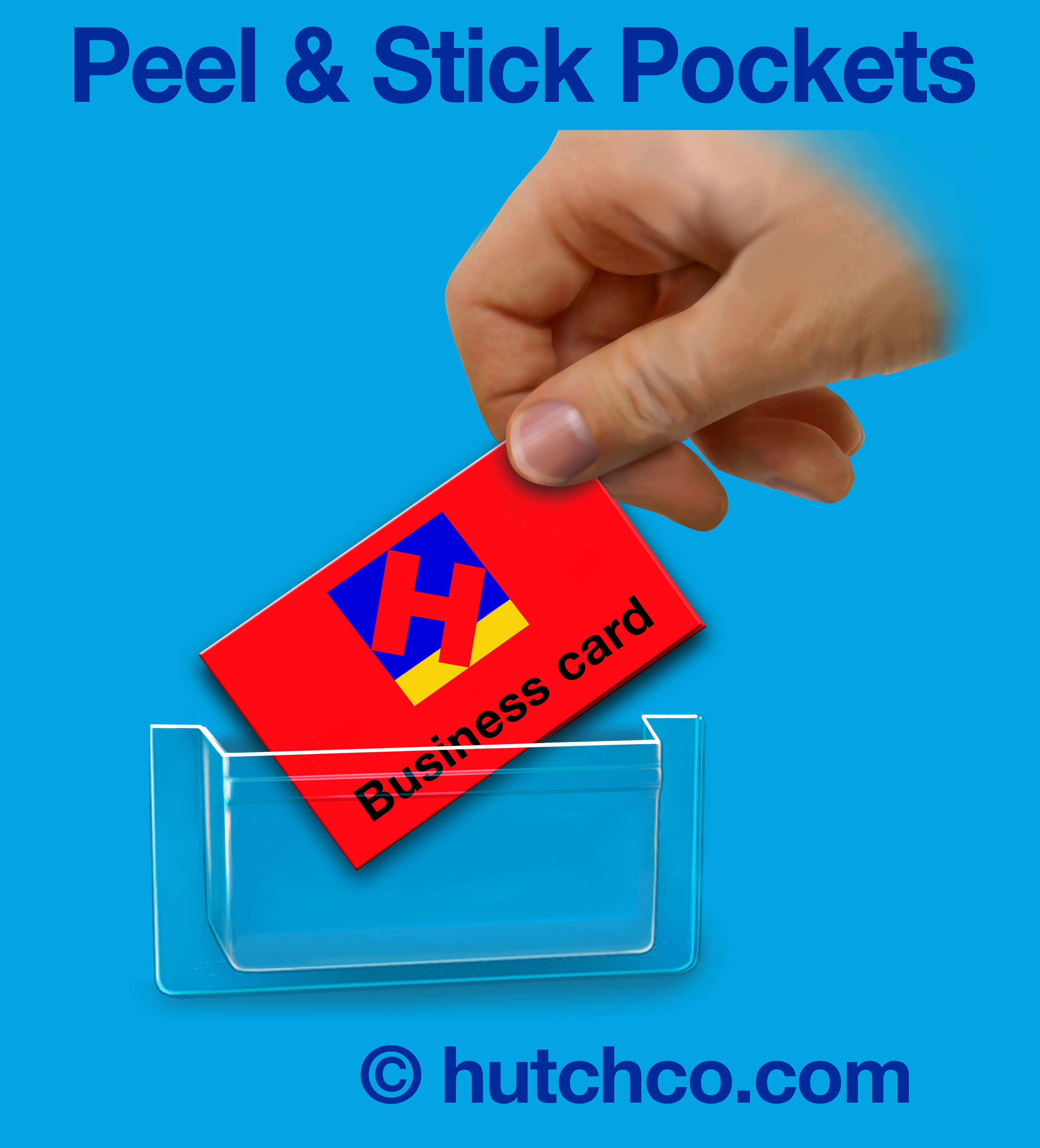 HUTCHCO.COM Stick-On Pockets are 3.5\