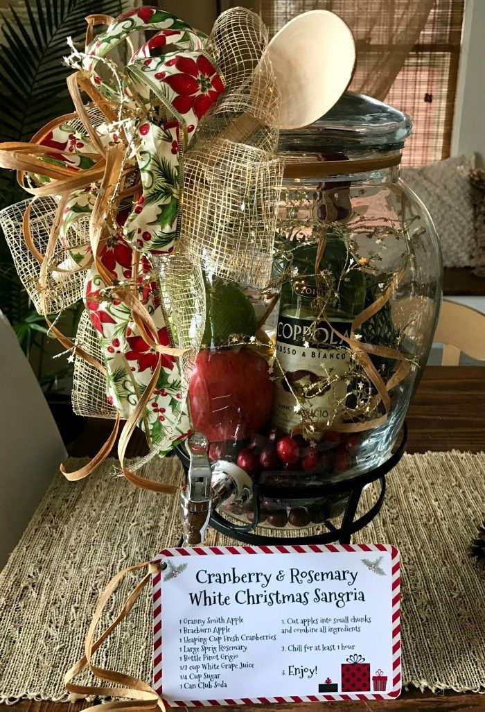 winter sangria kit themed gift baskets gourmet gift baskets christmas gift baskets diy