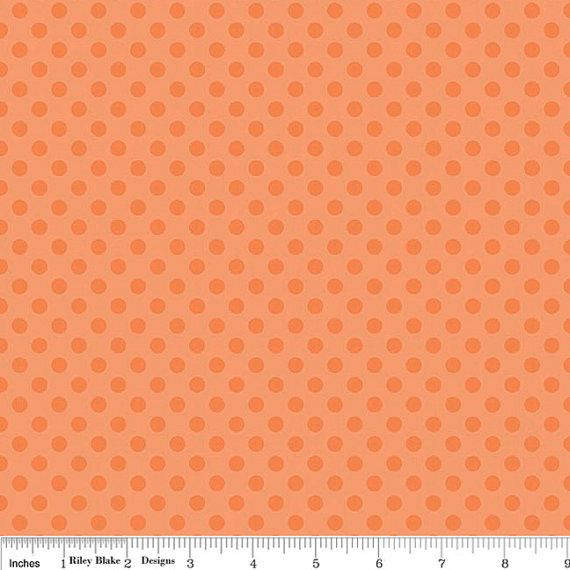 Orange on Orange Dots Fabric by Riley Blake