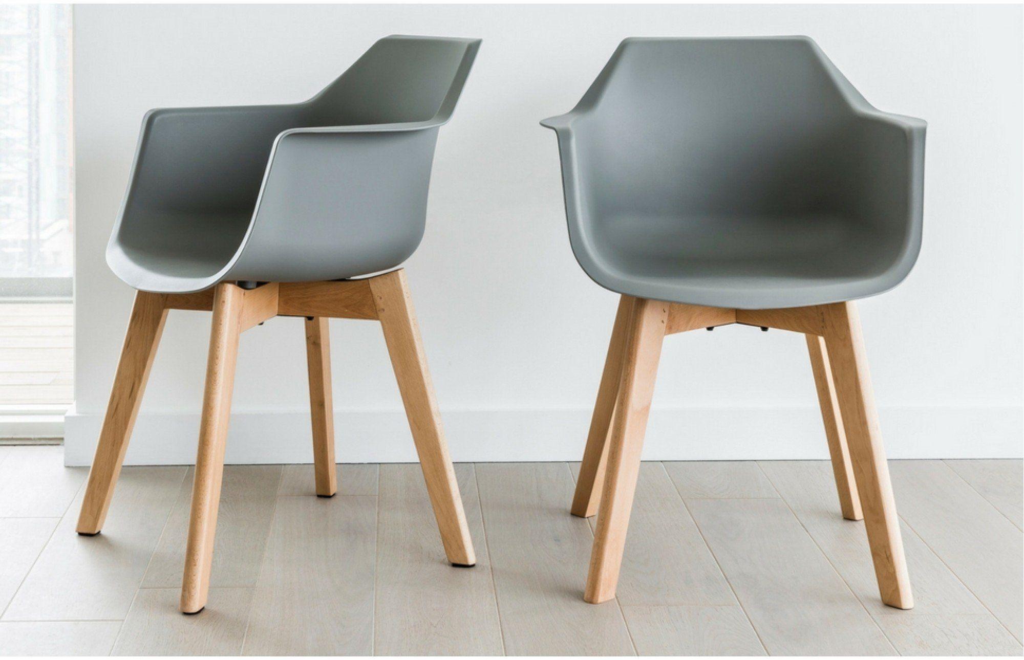 Surprising Amelia Grey Bucket Chairs Set Of 2 Dining Area Machost Co Dining Chair Design Ideas Machostcouk
