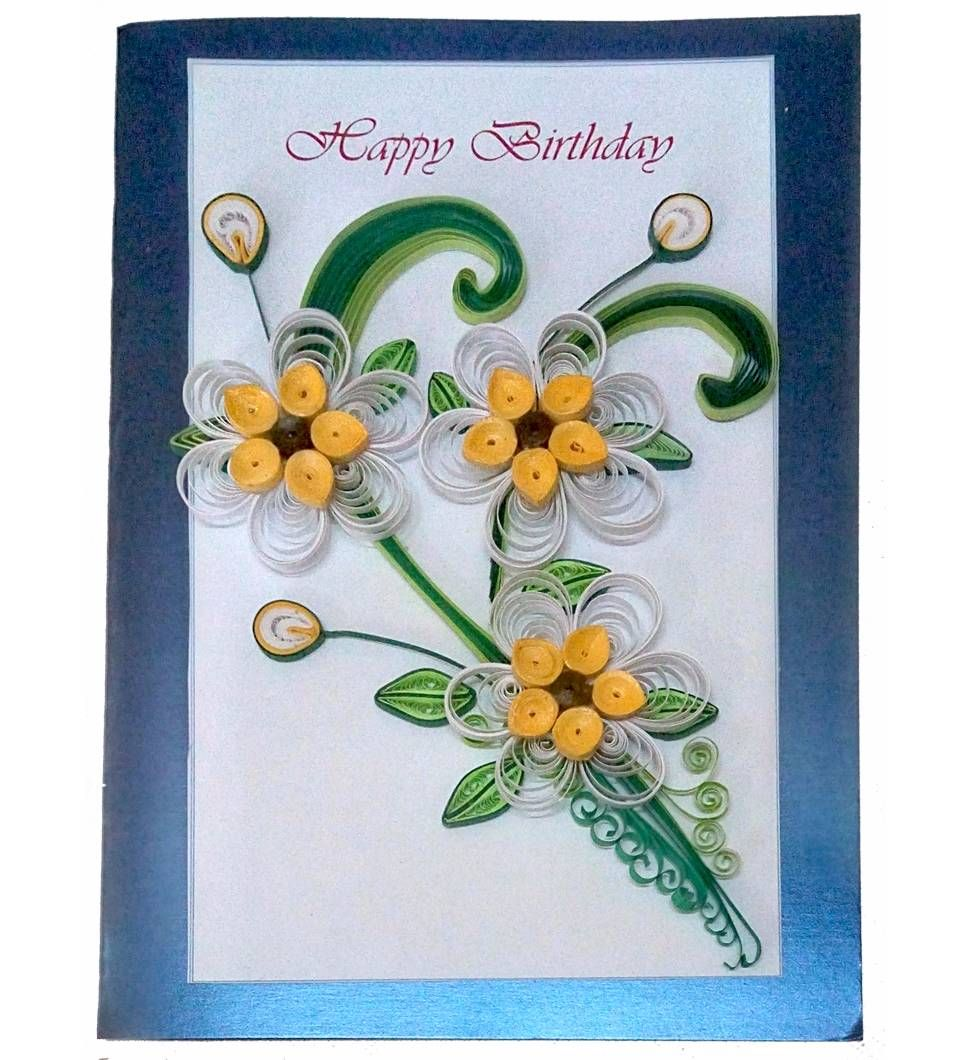 Buy Handmade Paper Quilling Happy Birthday Best Wishes Greeting Card