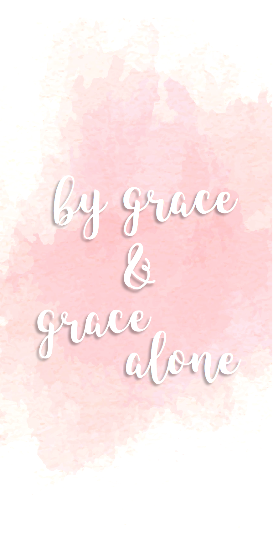 by grace and grace alone pink watercolor iPhone background ...