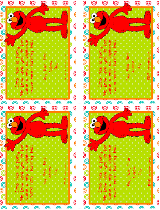 Invitation and papereditable elmo invitation ideas for my elmo birthday party with lots of printables filmwisefo Gallery