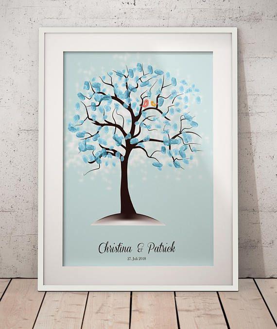 Hochzeitsbaum Wedding Tree Fingerabdruckbaum Fingerabdruck
