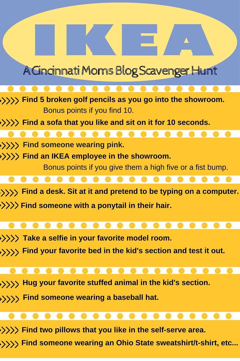 A Cincinnati Moms Blog Scavenger Hunt To Ikea