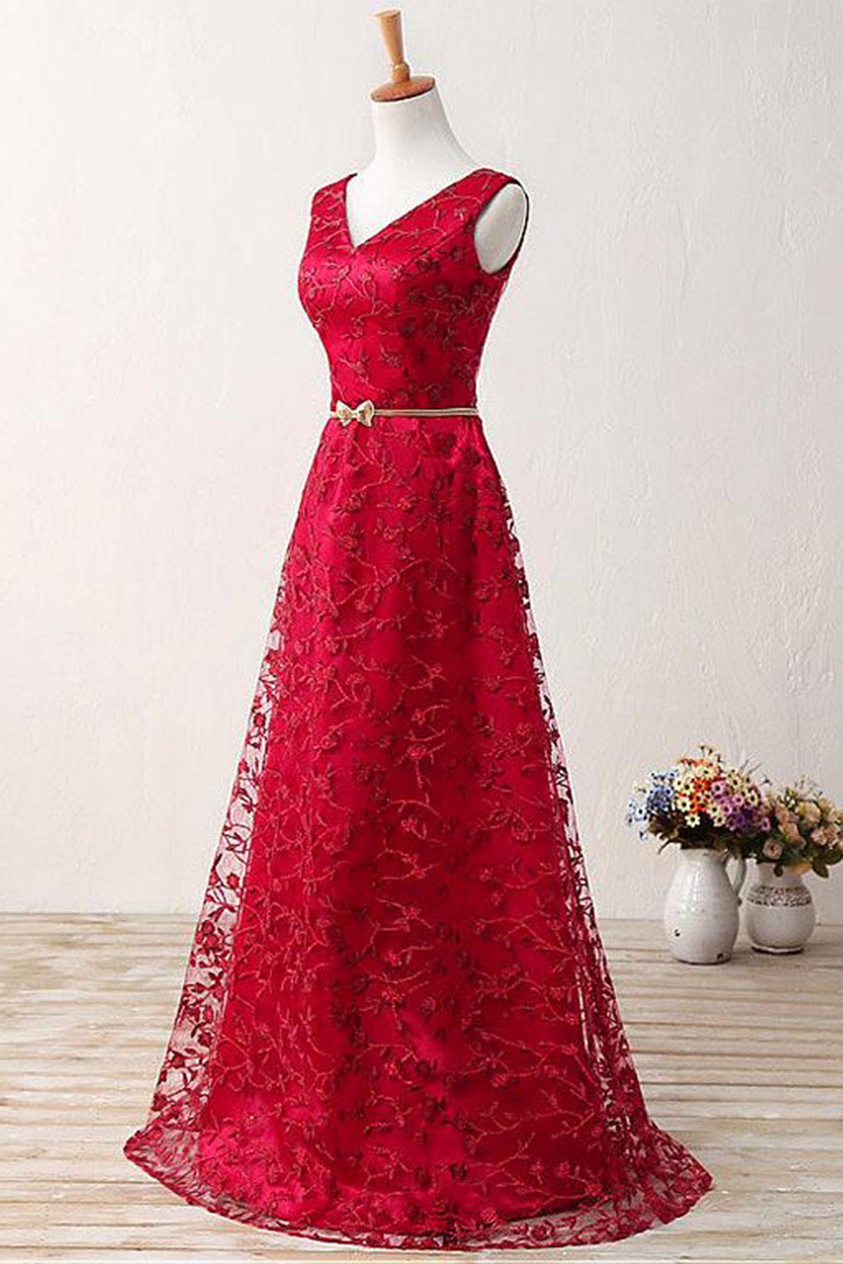 Gorgeous red lace senior prom dress promdress prom pinterest