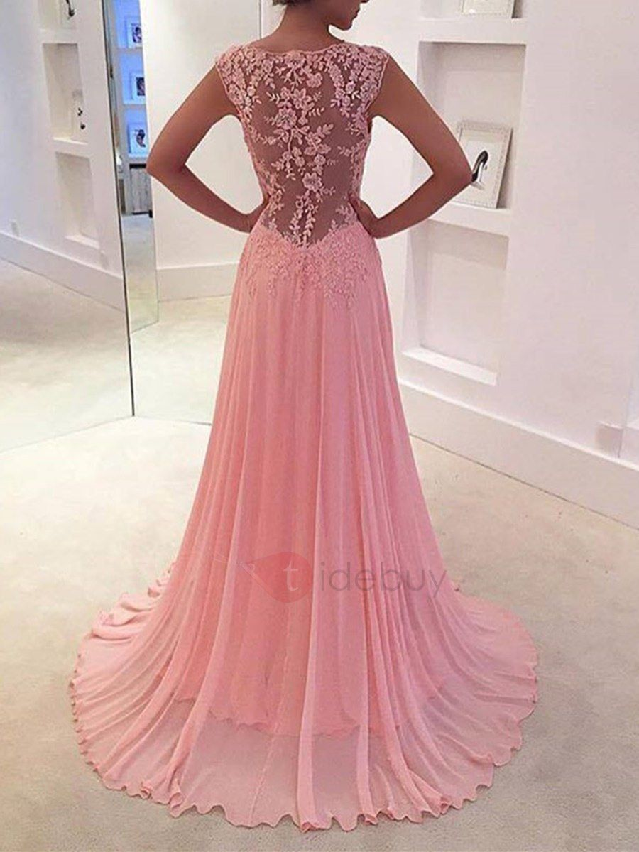 Sweet Sheath V-Neck Appliques Evening Dress | Pinterest