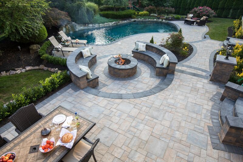 Make This View An Everyday Thing With Cambridge Pavingstones And Armor Tec!  Installation: Nicosia Construction
