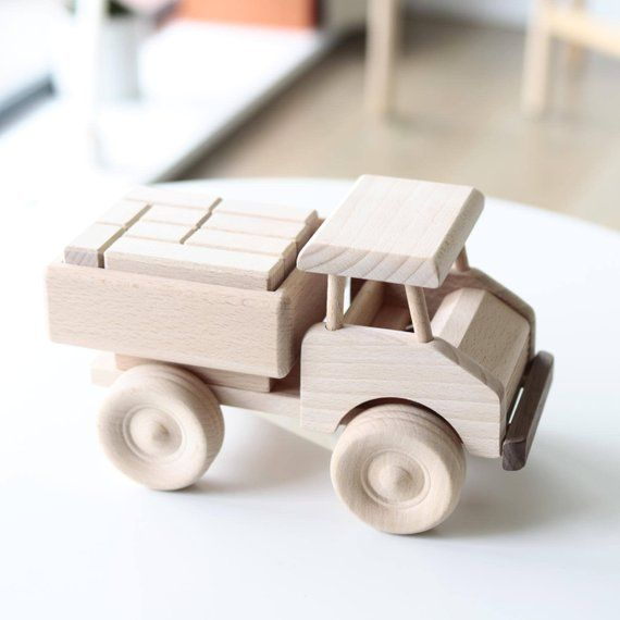Wooden Truck With Blocks Truck Toy Wooden Vehicles