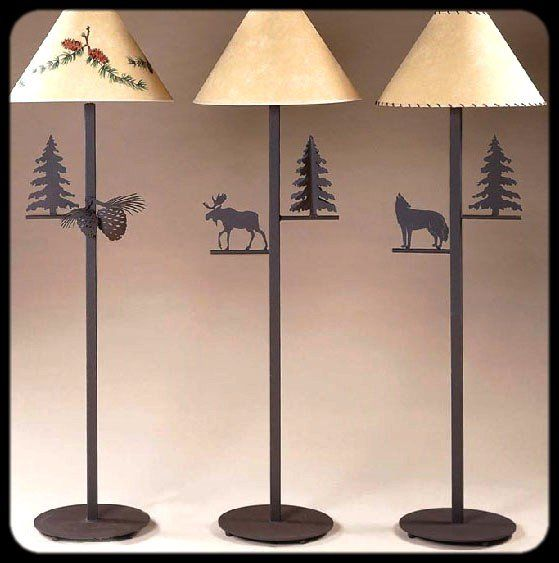 attractive Northwoods Lighting Fixtures Part - 15: Iron Northwoods Rustic Floor Lamps. Caribou Lake Lighting is hand made  lodge lighting including,